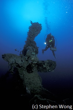 Japanese wreck diving in Gorontalo
