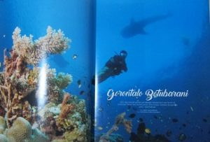 Scuba Diver Ocean Planet Magazine photo spread